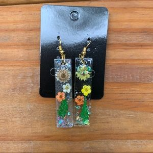 New Beautiful Floral Resin Earrings